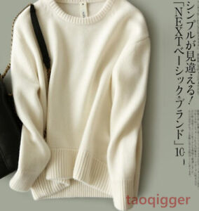 Autumn-Winter-Pullover-Sweater-Women-Thick-Loose-Crewneck-Cashmere-blend-Sweater