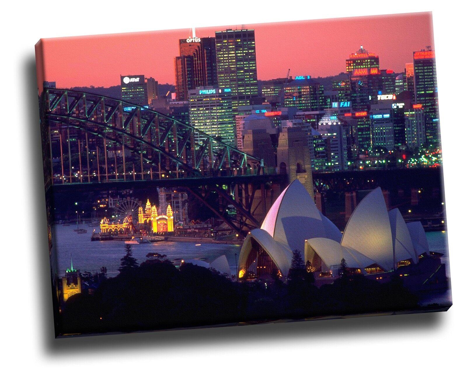 Skyline of Sydney, Australia Cityscape Giclee Canvas Picture Art