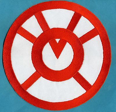"Large 8"" Orange Lantern Corps Classic Style Embroidered Iron-on Patch"