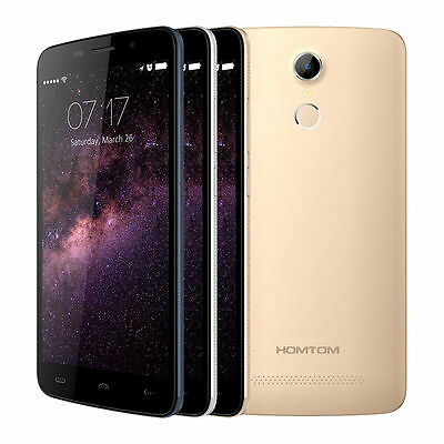 "HOMTOM HT17 5.5""Smartphone Android 6.0 Quad Core Fingerprint 8GB 4G Mobile Phone"