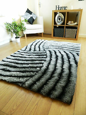 SMALL LARGE 3D LUXURY COLOURFUL THICK SILKY SOFT PILE CARVED TRENDY MODERN RUG