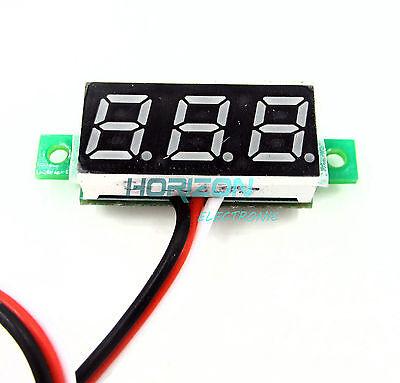 10pcs Mini DC 0-100V Green LED 3-Digital Display Voltage Voltmeter Panel Motor