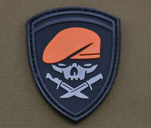 PVC-Rubber-Patch-034-Special-Forces-Skull-Roger-034-With-Velcro-Brand-Gancho