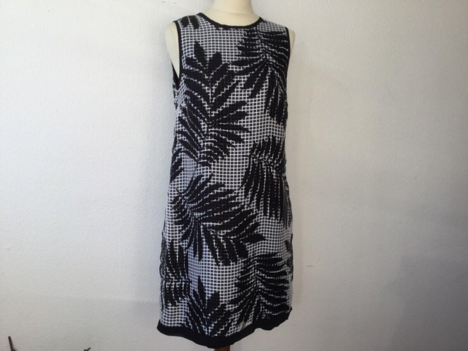 Ana Alcazar Kleid Gr. 34 schwarz weiß ärmellos edel NEU
