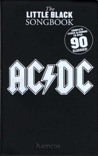 AC//DC The Little Black Songbook Guitar Chord /& Lyrics Music Book 90 Songs