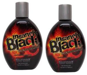 LOT-2-Millennium-Insanely-Black-Hot-Tingle-60X-Dark-Tanning-Lotion-13-5-oz