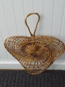 Wicker Weave Hand Fan Paddle Decor Wall Crafts Home Decor