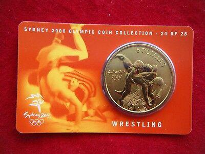 No: 24 of 28 2000 Sydney Olympics $5 Coin Australia Wrestling