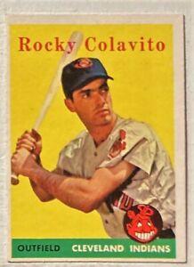 1958 TOPPS ROCKY COLAVITO #368  EX GREAT COLOR NO CREASES