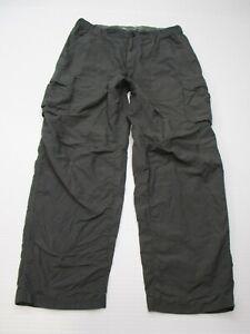 REI-Men-039-s-Size-L-Elastic-Waist-Lightweight-Gray-Wide-Leg-Cargo-Pants