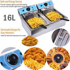 2 Tank 16l Electric Countertop Deep Fryer Fry Commercial Basket Restaurant