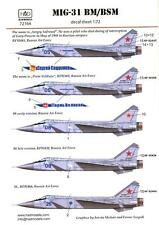Hungarian Aero Decals 1/72 MIKOYAN MiG-31 BM/BSM FOXHOUND Russian Fighter