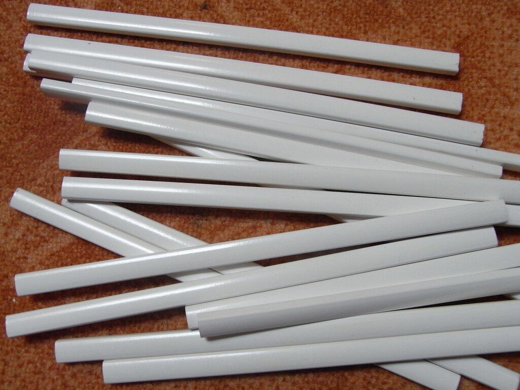 100x Zimmererstifte weiß 24cm Bleistift weiße Baustifte Zimmermannsbleistifte | Qualität zuerst  | Online-Exportgeschäft  | Einfach zu spielen, freies Leben