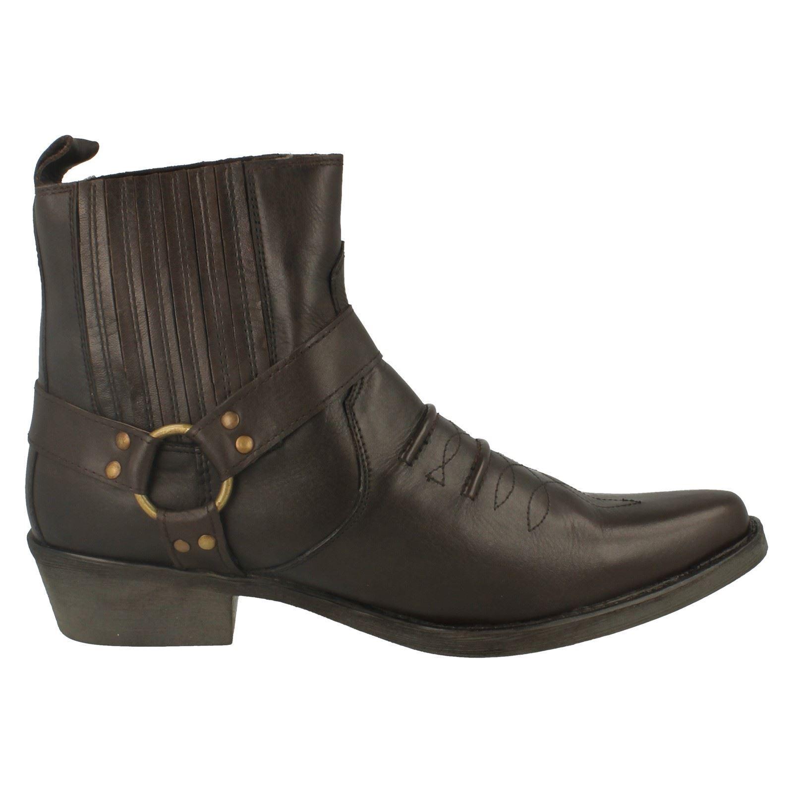 Maverick A3003 Mens-tan Farbe Leder Stiefel oben Cowboy Stiefel Leder d6f9de