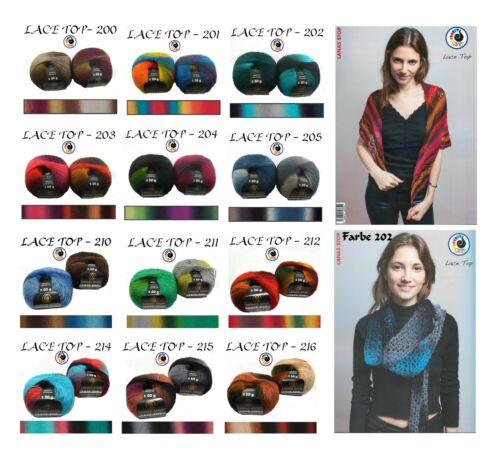 11,90€//100g 50g LACE TOP Lanas Stop FARBVERLAUF Lacegarn 420m//50g Lace-Wolle