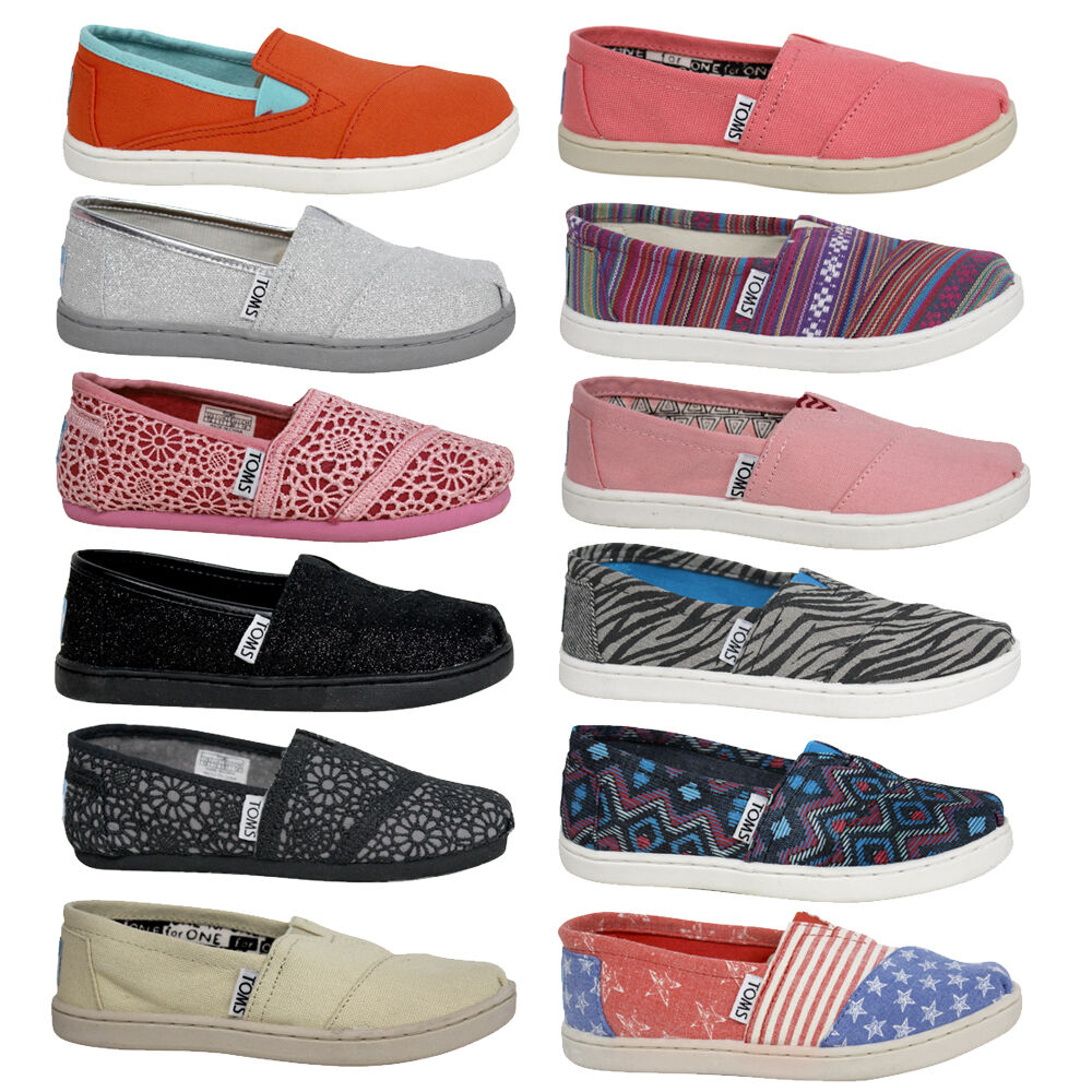 Toms Espadrilles Classic Slip On Textile Youth Boys Girls