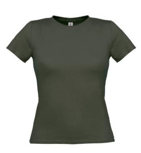 Damen Rundhals Kurzarm T-Shirts Einfarbiges T-Shirt Kurzarm Sommer
