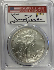 2006-W Burnished SIlver Eagle PCGS SP70 JIm Peed Signed