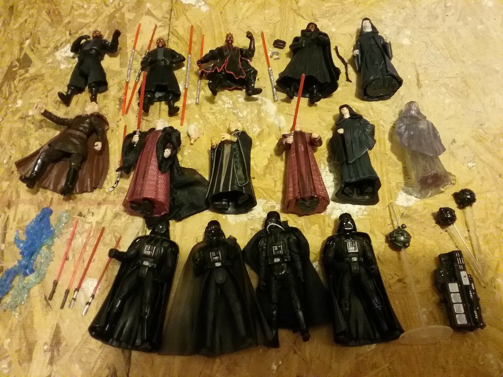 STAR WARS SITH LORDS ARISE- DARTH MAUL, SIDIOUS, TYRANNUS, VADER, TONS