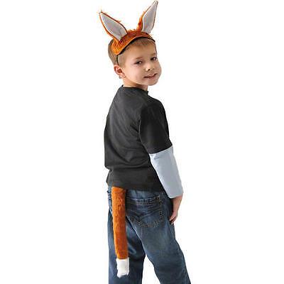 Childrens Fox Fancy Dress Set Outfit Fury Tail & Ears Mr Fox Costume