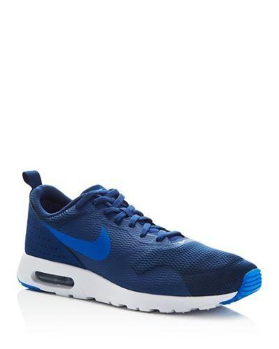 NIB Auth Nike Air Max Tavas Running Shoes Navy Blue Wht 705149-403 Mens Sz 10 11