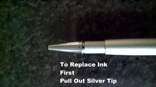 Free Post 70mm Long - point 0.7mm 4 x Blue Ink refills For Crystal pens