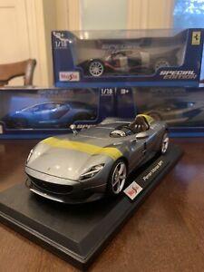 Maisto-Special-Edition-1-18-Escala-De-Fundicion-Vehiculo-Ferrari-Monza-SP1