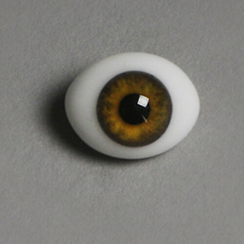 glass Eyes OOAK 8mm Classic Flat Back Oval Glass Eyes CC09 Dollmore