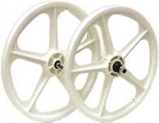 Skyway Tuff Wheels II 5 Spoke Composite 20 x 1.75 FW Mag Wheel Set BMX (White)