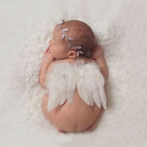1x Newborn Baby Girl Boy Angel Wings Headband Photo Props ...