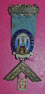 Masonic Past Master's Jewel Lodge of Hope No 7152 sterling silver hallmark