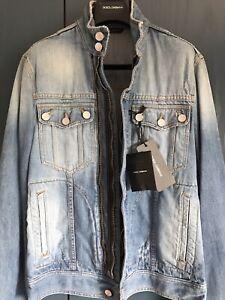 D-amp-G-DOLCE-amp-GABBANA-Distressed-Biker-Style-Denim-Jeans-Jacket-BNWT