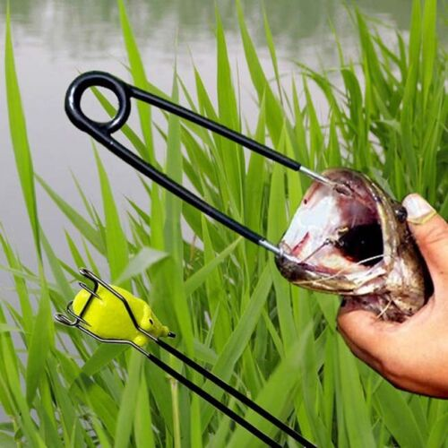 2Pcs Fish Mouth Opener and Hook Remove Pick Frog lures Metal Jaw Spreader Z