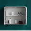 Priano-Bathroom-Mirror-Wall-Cabinet-Double-Doors-Mirrored-Cupboard-Wooden-White thumbnail 5