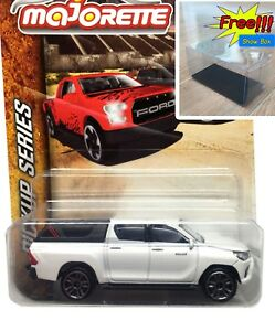 Majorette-Toyota-Hilux-Revo-White-Diecast-1-58-Pick-Up-Series-Free-Display-Box
