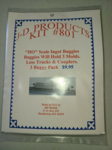 J-D Products Kit #801 HO Ingot Buggies 3 Pack