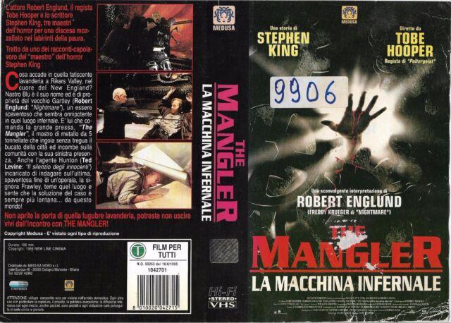 THE MANGLER - LA MACCHINA INFERNALE (1995) vhs ex noleggio