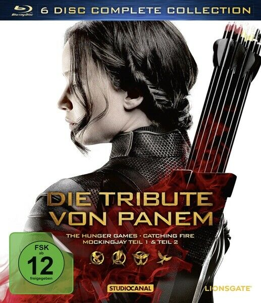 JENNIFER LAWRENCE - TRIBUTE VON PANEM,DIE/COMPLETE COLLECTION  6 BLU-RAY NEU
