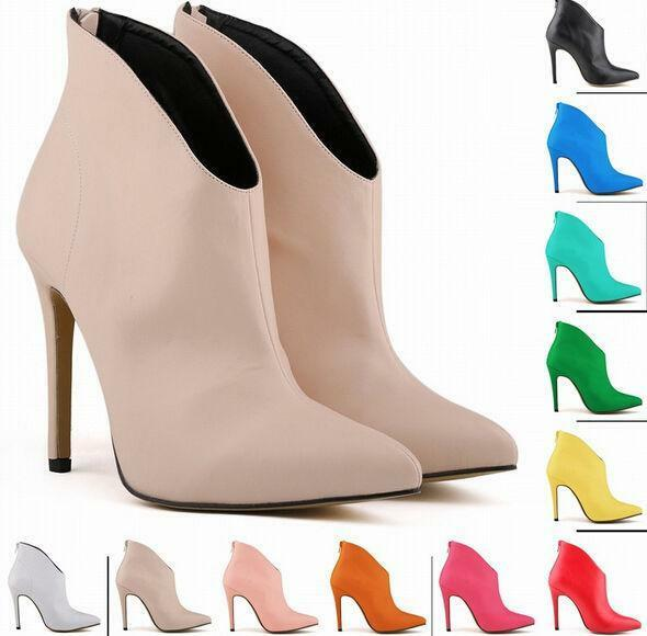 Sexy Pointy Lady Pointy Sexy Toe Ankle Boots High Heel Stiletto Patent Leather Shoe 4-10 New e17375