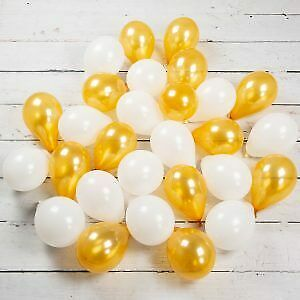 10-100 White and Mix colour Pearl Balloons Birthday Wedding Party New Year UK