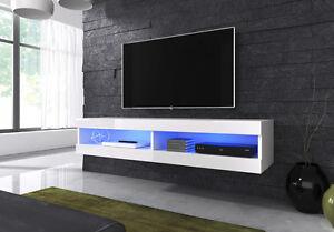 Floating-TV-Unit-Cabinet-Stand-Volant-150-cm-body-matt-White-Front-White-Gloss