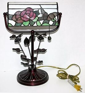 Gorgeous Dale Tiffany Butterfly Desk Lamp Engraved