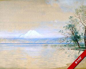 MOUNT TACOMA WASHINGTON USA WATERCOLOR PAINTING ART REAL CANVAS GICLEEPRINT