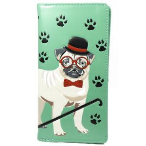 Shagwear-Ladies-Wallet-Large-Purse-Dog-Footprints-green