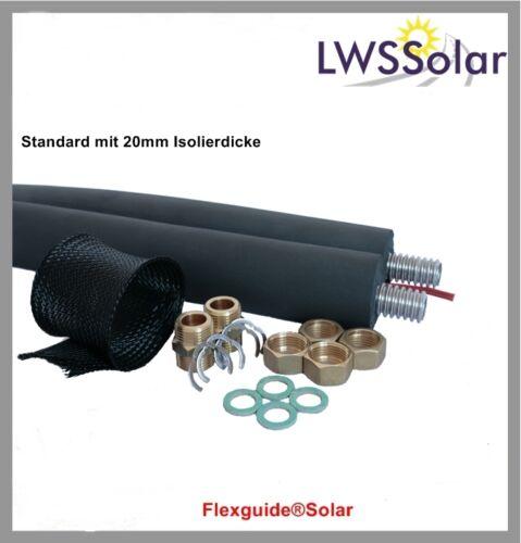 Isoliertes Edelstahl Wellrohr DN20 15 Solar Doppelrohr