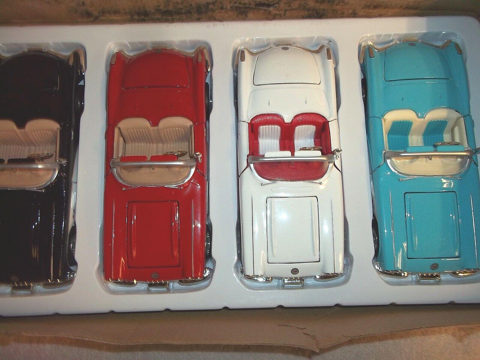 1959 Chevy Corvette Converdeible Die Cast Car 1 24 Scale 4 Cars M036