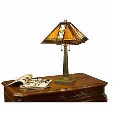 Tiffany Style Table Lamp Stained Glass Desk Art Deco Mission Craftsman Southwest