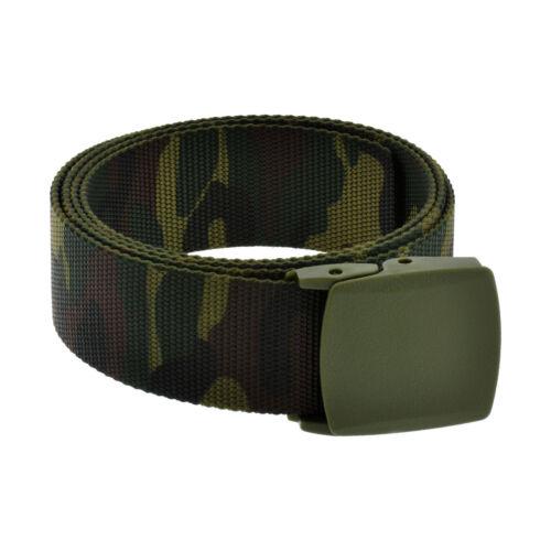Mens Military Grade Tactical Belt Webbing Nylon Strap Casual Plastic Buckle