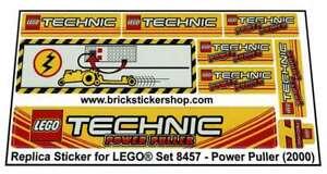 Precut-Replica-Sticker-voor-Lego-Set-8457-Power-Puller-2000