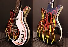 Danelectro DC59 Electric Guitar Jimmy Page custom hand painted pinstripe flames